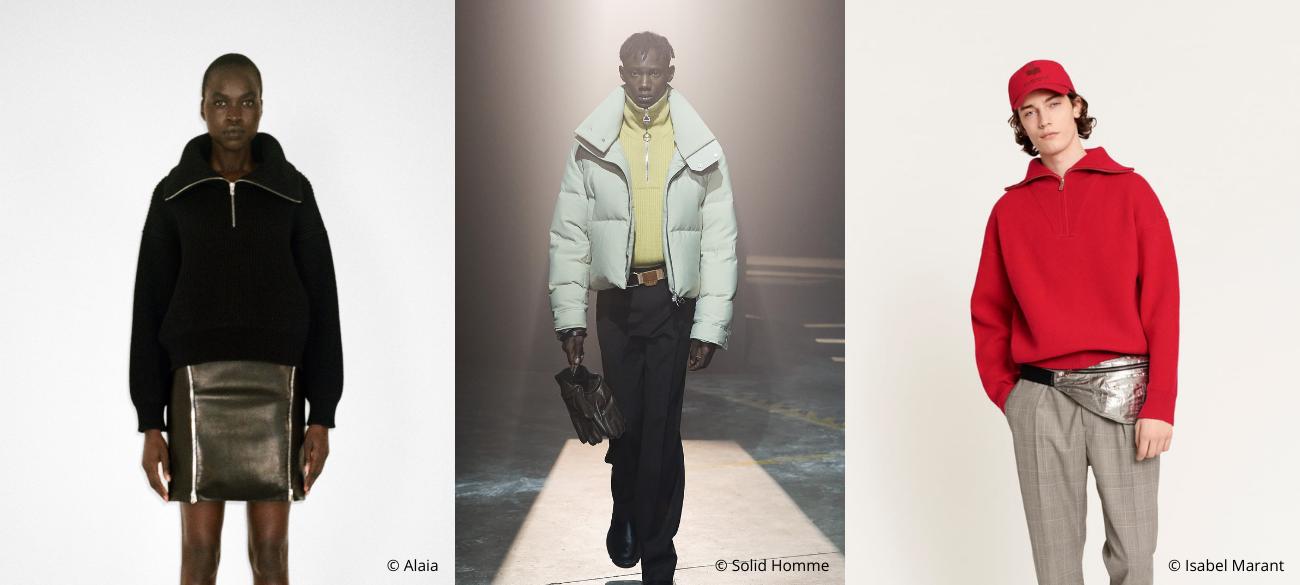 Must-wear trend of fall/winter 2021-2022: Front Zip Knits