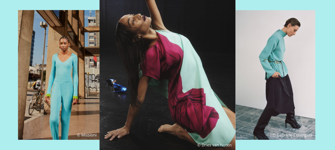 Must-colour trends van spring/summer 2022: Light Turquoise
